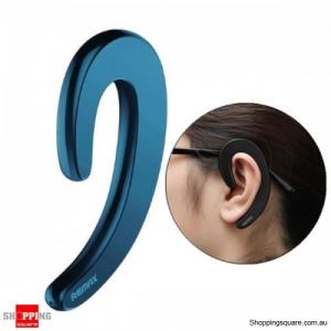 Ultra-thin Ear-hook Unilateral Bluetooth 4.1 Earphone Headphone With Mic - Blue