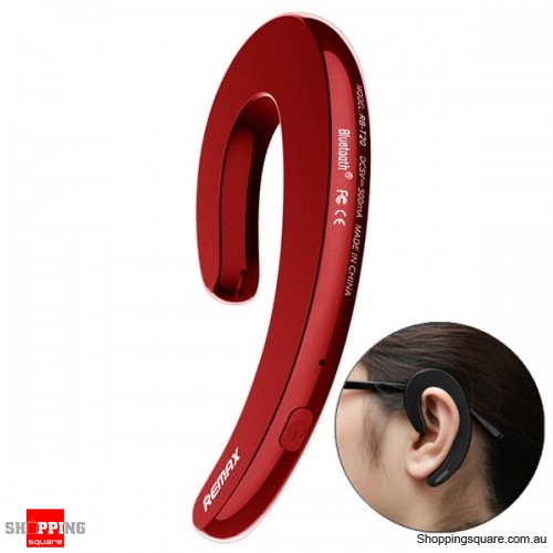 Ultra-thin Ear-hook Unilateral Bluetooth 4.1 Earphone Headphone With Mic - Red