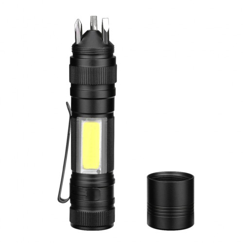 2 in 1 Portable Flashlight with Screwdriver Tool for Outdoor Camping Hiking