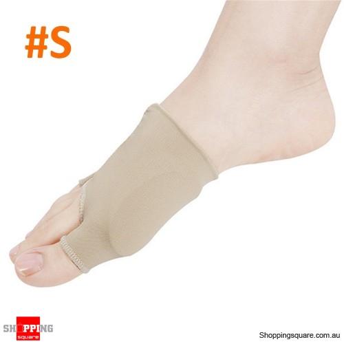 2pcs Toe Separator Straightener Corrector Elastic Thumb Valgus Protector Breathable - S
