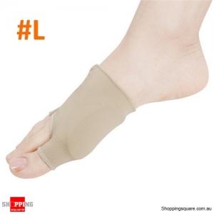 2pcs Toe Separator Straightener Corrector Elastic Thumb Valgus Protector Breathable - L