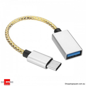 16cm Type-C To USB3.0 OTG Adapter Photo Picture Data Cable For Mobile Phone Tablet Camera - Silver