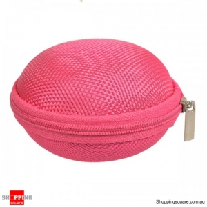 Carrying Storage Bag Organizer Case zippable For Earphone Cable - Pink
