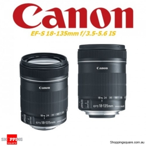 Canon EF-S 18-135mm f/3.5-5.6 IS DSLR Camera Lens Black - Factory Refurbished