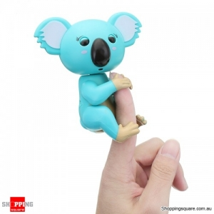 Finger Baby Koala Smart Induction Electronics Grab Finger Pet Toy For Kids Gift - Cyan
