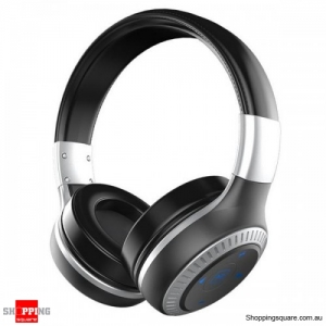 3D Sound 40mm dynamic driver AUX Line-in Wireless Bluetooth Headphone Headset With Mic - Black & Gray
