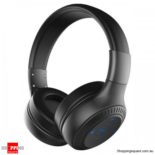 3D Sound 40mm dynamic driver AUX Line-in Wireless Bluetooth Headphone Headset With Mic -Black