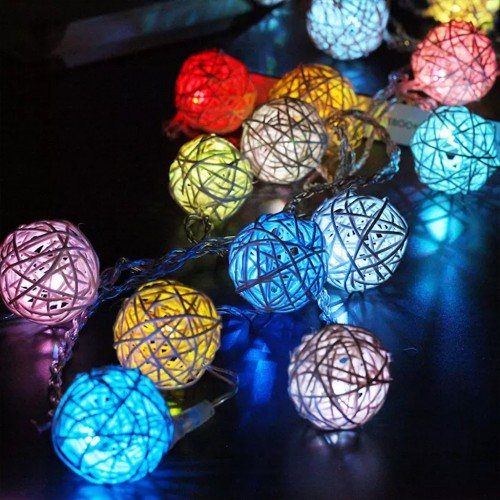 2.5m 20 LEDs Christmas Light Vine Ball String Light - Multi-color
