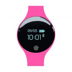 SANDA 1675 Multifunctional Bluetooth Sports Fitness HR Tracker Smartwatch Bracelet - Pink