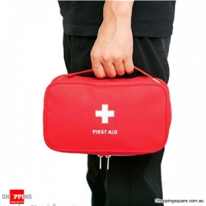 Emergency Bag First Aid Travel Outdoors Camping Medicine Storage Bag Survival Kit - Red
