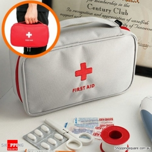Emergency Bag First Aid Travel Outdoors Camping Medicine Storage Bag Survival Kit - Gray