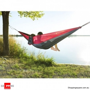Ultralight Portable Durable Hammock for Outdoor Camping Backpacking- Gray
