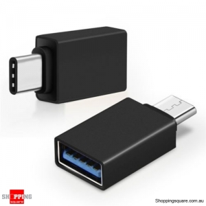 1PCS USB 3.1 Type C USB-C Male to USB 3.0 A Female Converter Cable Adapter Black Colour