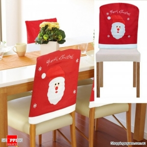 Christmas Chair Cover Event Party Christmas Snowman Santa Claus Dinner Chairs Cover Home Decor-1