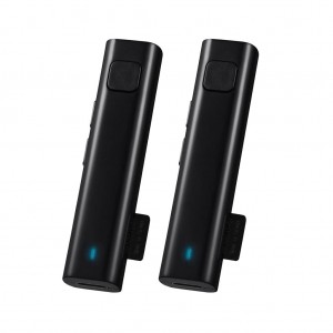 2Pcs Bluetooth Wireless headset Receiver Multi-Language Translator with TF Card Slot for traveling - Black