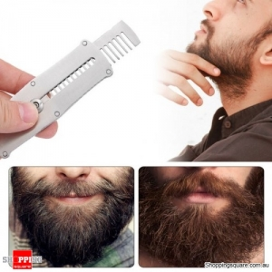Portable Stretchable Stainless Steel Beard Styling Comb with Key Ring