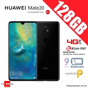Huawei Mate 20 128GB HMA-L29 4G LTE Unlocked Smart Phone Black (6GB RAM)