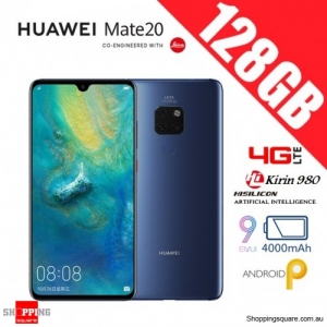 Huawei Mate 20 128GB HMA-L29 4G LTE Unlocked Smart Phone Midnight Blue (6GB RAM)