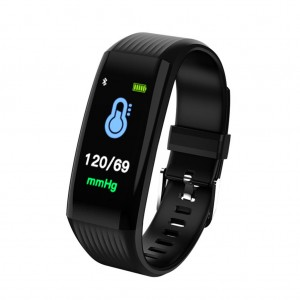 "B06 Waterproof 0.96"" IPS Color Touch Screen Smart Bracelet Pedometer Health Monitor Fitness - Black"