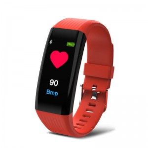 "B06 Waterproof 0.96"" IPS Color Touch Screen Smart Bracelet Pedometer Health Monitor Fitness - Red"