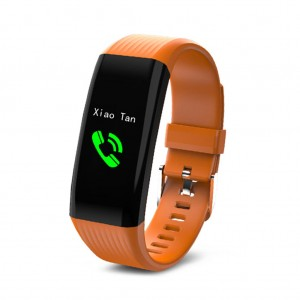 "B06 Waterproof 0.96"" IPS Color Touch Screen Smart Bracelet Pedometer Health Monitor Fitness - Orange"
