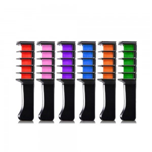 6pcs Hair Chalk Comb Temporary Hair Colour Dye for Party Cosplay