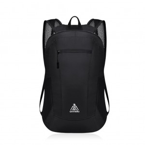 anmeilu 15L Ultralight Foldable Backpack Waterproof Folding Bag - Black