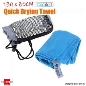 130x80CM Quick Drying Ultralight Microfiber Towel Beach Swim Bath Face Washcloth Travel Outdoors- Gray