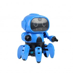 DIY Assemble Electric Indication Robot Educational Toy Christmas Gift for Child
