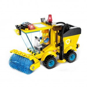 Early education puzzle engineering Creative tractor sweeper heavy forklift truck Vehicle car toy - 01