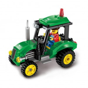Early education puzzle engineering Creative tractor sweeper heavy forklift truck Vehicle car toy - 02
