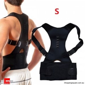 Adjustable Back Support Posture Corrector Protection Pain Relief - Size S