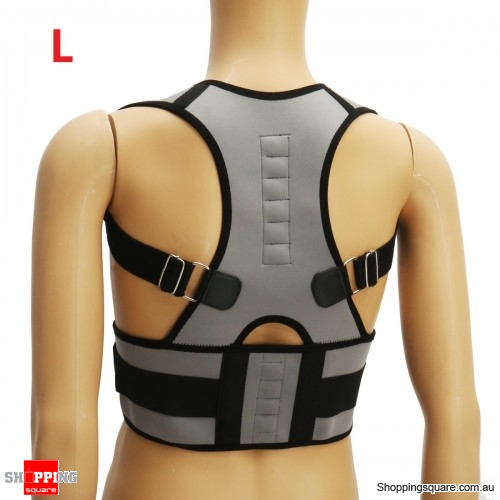 Adjustable Back Support Corrector Lumbar Shoulder Protection Pain Relief - Size L