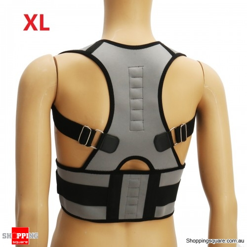 Adjustable Back Support Corrector Lumbar Shoulder Protection Pain Relief - Size XL