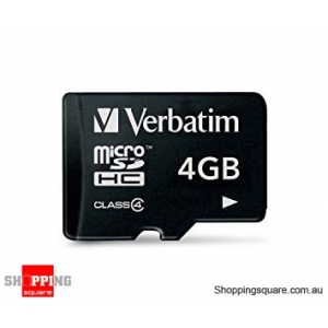 Verbatim 4GB MicroSDHC Class 4 Micro SD Memory card for android mobile phone