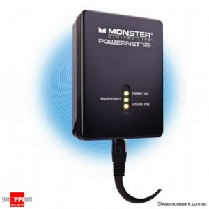MONSTER Powernet 50 200Mbps Ethernet Over Power Network Extender PLN 50 - Black
