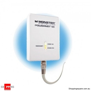 MONSTER Powernet 50 200Mbps Ethernet Over Power Network Extender PLN 50 - White