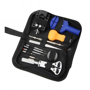 13pcs Professional Watch Repair tool Set Toolkit with Storage Case