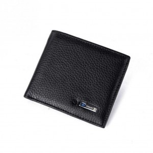 Smart Wallet Bluetooth genuine leather anti-lost Tracker wallet - Black