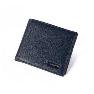 Smart Wallet Bluetooth genuine leather anti-lost Tracker wallet - Dark Blue