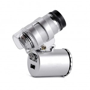 60X Mini Pocket Microscope with LED Illuminated Light