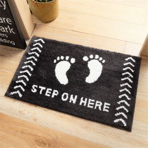 Cute Pattern Water Absorption Bathroom Mat Non-slip Home Decor Soft Doormat - feet
