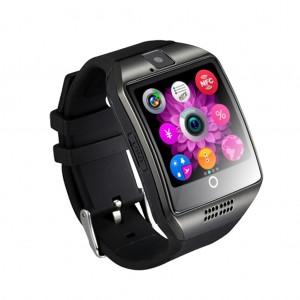 Multifunctional Q18 Waterproof camera FM radio fitness tracker Smart Watch - Black