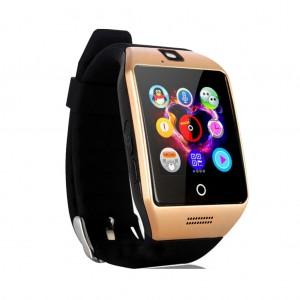 Multifunctional Q18 Waterproof camera FM radio fitness tracker Smart Watch - Gold