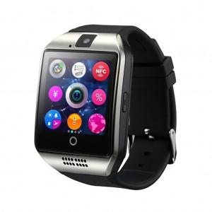 Multifunctional Q18 Waterproof camera FM radio fitness tracker Smart Watch - Silver