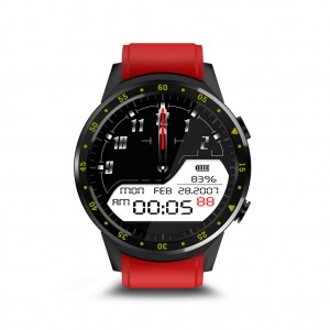 "F1 1.3"" Touchscreen Bluetooth 4.0 GPS Fitness Tracker Sport Smartwatch - Red"