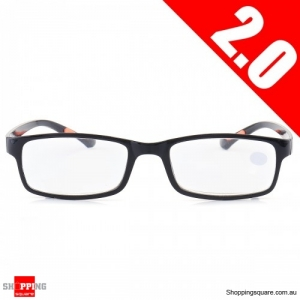 Portable Light Weight Resin Relieve Reading Glasses - 2.0