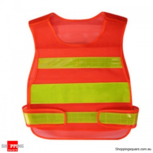 High Visibility Reflective Lightweight Vest Night Running Cycling Security Reflective Clothing - Orange