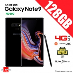 Samsung Galaxy Note 9 128GB N9600 4G LTE Dual Sim Unlocked Smart Phone Midnight Black