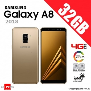 Samsung Galaxy A8 32GB A530FD (2018) 4G LTE Dual Sim Unlocked Smart Phone Gold